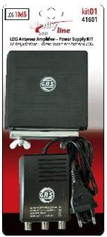 Juego de Amplificador de antena y adaptador logarítmica a 10 dB