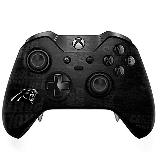 (Skinit Carolina Panthers Black & White Xbox One Elite Controller Skin - Officially Licensed NFL Gaming Decal - Ultra Thin, Lightweight Vinyl Decal Protection)