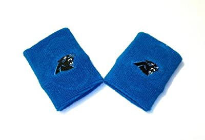 Carolina Panthers Electric Blue Team Logo Terry Cloth Wristbands
