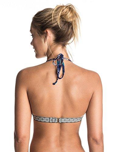 Roxy Women's Band It Fixed Triangle Bikini Top, Kantha Quilt Combo Marine, M