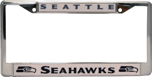 NFL Seattle Seahawks Chrome Licensed Plate Frame