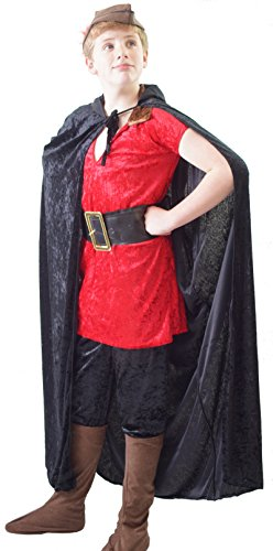 World Book Day-Theatre-Stage-Panto-Beauty And The Beast- GASTON COSTUME With CAPE & HAT - All Childresn Sizes (AGE 5-6)