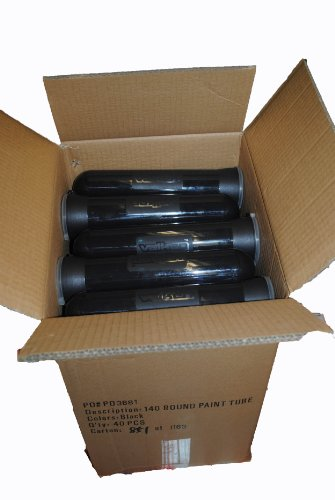 Valken Pods / Tubes 140 Round - Black - CASE LOT OF 40 - for Paintball Harness by Valken