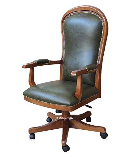 Sedie E Sedute Per Ufficio.Poltrona Da Ufficio Girevole Con Ruote E Altezza Seduta Regolabile