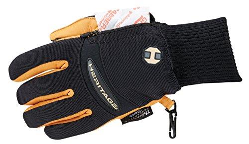Heritage Winter Work Gloves, Size 11, Black/Tan