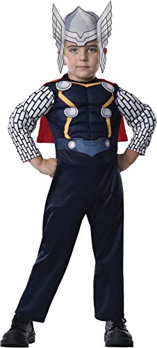 Spider Man 3 Muscle Costumes (Rubie's Costume Baby Boy's Marvel Classics Avengers Assemble Muscle Chest Thor, Multi, Toddler)