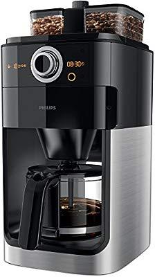 Philips Grind & Brew HD7766 - Cafetera (Independiente, Drip coffee maker, Granos de café, De café molido, Café, Negro, Acero inoxidable, De plástico, ...