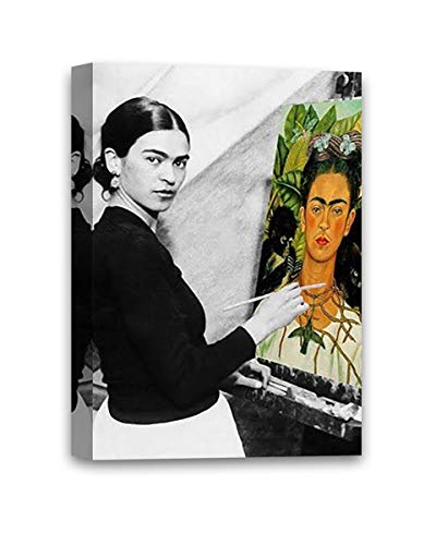 Funny Ugly Christmas Sweater Cute Frida Self-Portrait Mexican Painter Frida Kahlo Modern Painting Feminist Gifts Frida Canvas Decor Ready to Hang Poster 32