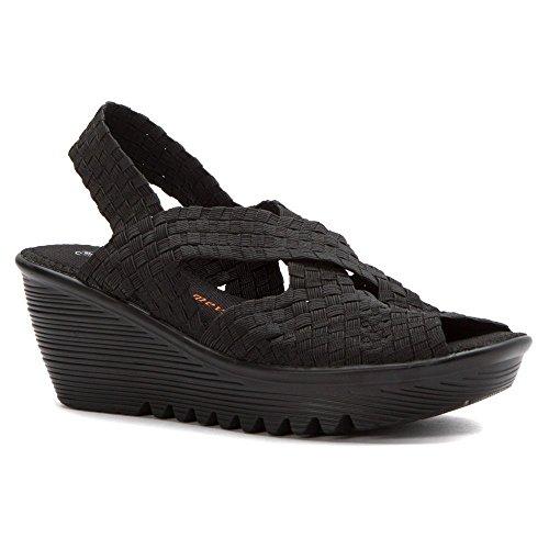 bernie mev. Womens Brighten Black Sandal 38 (US Womens 7.5) M