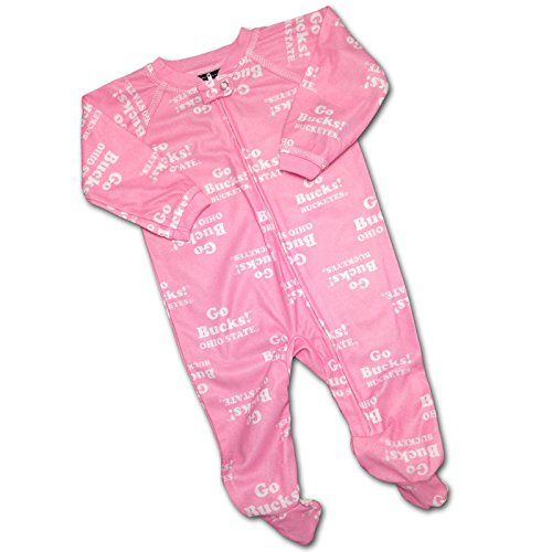 Baby Ohio State Pink Logo Covered PJ's, 12 Months ()