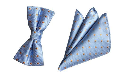Texture Bow - Men Boys Sky Blue Texture Bow Tie Set Fashion HANDMADE Luxury Tuxedo Suit Bowtie