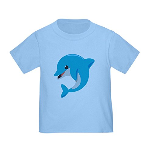 T-shirt Dolphins Toddler (CafePress Dolphin T-Shirt - Cute Toddler T-Shirt, 100% Cotton)