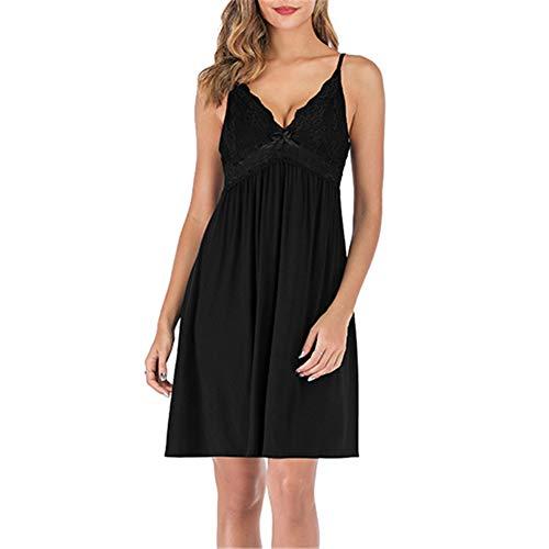 Slips for Women Dresses Black Babydoll Dress Women Sleepwear for Women Spaghetti Strap Dress lace Dress Black XXL