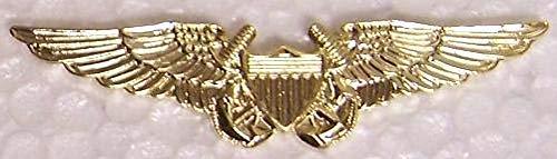 Large Hat Pin Navy Naval Flight Officer Wings Jacket Epaulet ()