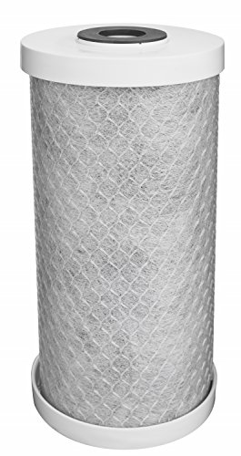 EcoPure EPW4C Carbon Block Whole Home Replacement Water Filter - Universal Fit - Fits Most Major Brand Systems
