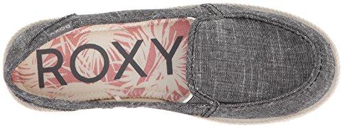 Roxy Donna Lido Corda Slip On Scarpa Sneaker Nero
