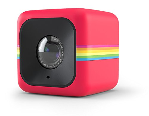 Polaroid Cube+ 1440p Mini Lifestyle Action Camera with Wi-Fi & Image Stabilization (Red)