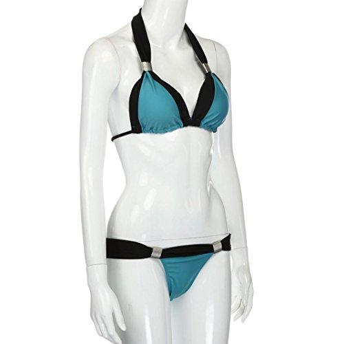 Ouneed Venta caliente mujer de una pieza de beachwear empujar bikini traje de baño Cielo azul