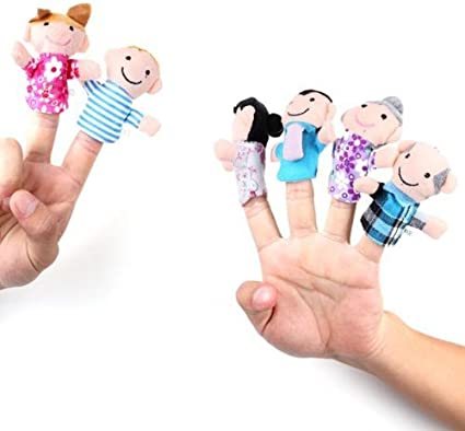 20 Pezzi Giochi di Ruolo 6 Membri della Famiglia e 14 Giocattoli di Peluche per Marionette da Dito per Animali Ottimo per narrazione insegnamento BETTERLINE Set di Marionette da Dito