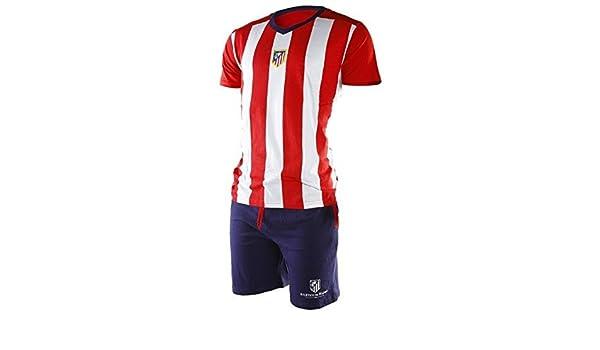FUTBOL Pijama Atlético de Madrid Adulto Verano - L: Amazon.es: Deportes y aire libre