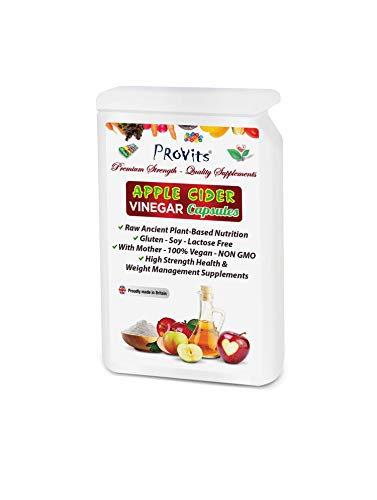 120 Apple Cider Vinegar Capsules with Mother 1200mg per Serving Natural High Strength Weight Management Supplements…
