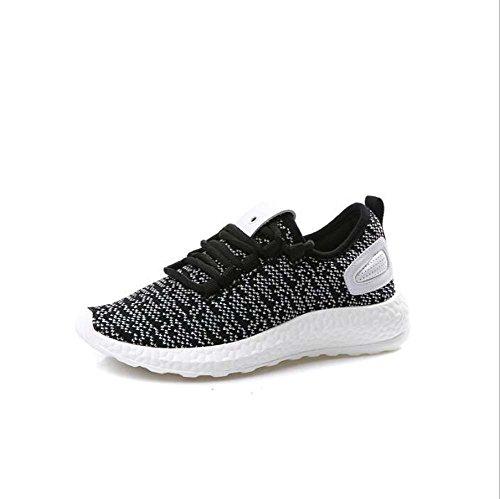 Zapatos atléticos Casuales de la Mujer Zapatillas de Deporte de la Aptitud Zapatos Bajos Zapatillas de Deporte Respirables Respirables Gris
