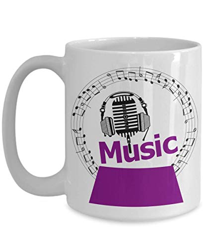 Purple Snowglobe - Snow Globe Purple Music Headphones Mug