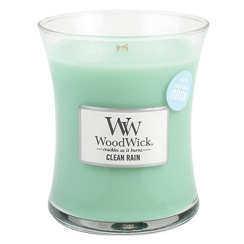 - Clean Rain WoodWick Odor Neutralizing 9.7 ounce Scented Jar Candle