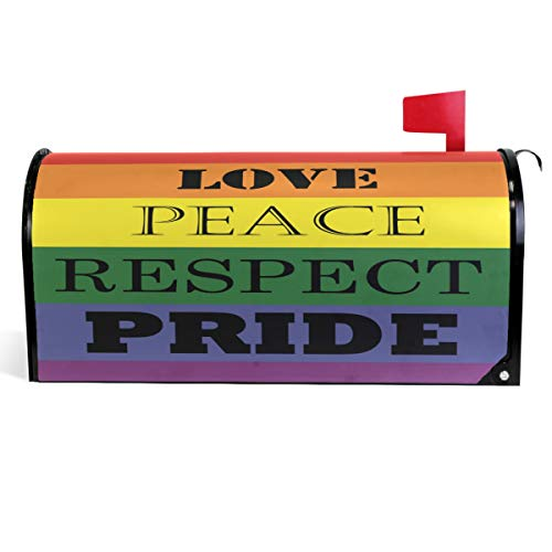 Wamika Love Peace Respect Mailbox Cover LGBTQ