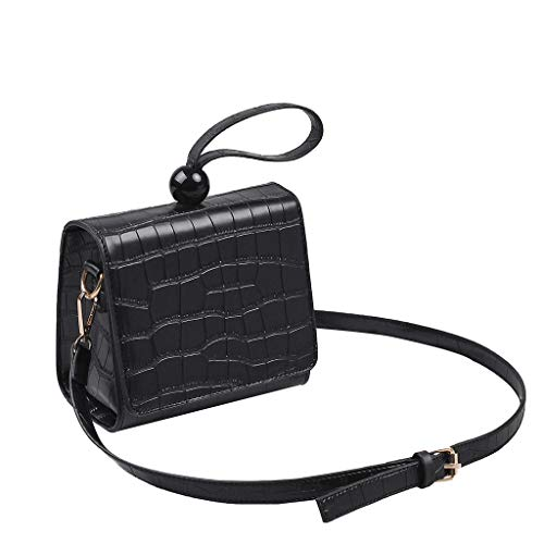 - LUXISDE Women Retro Serpentine Vintage Leather Pearl Messenger Bag Crossbody Bag