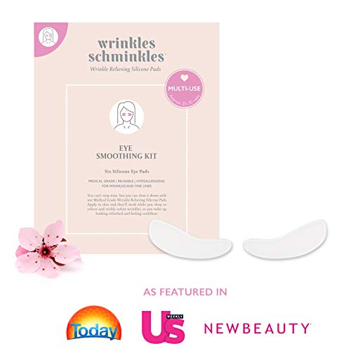 WRINKLES SCHMINKLES - Eye Smoothing Kit with Eye Wrinkle Pads - Made in USA - Premium Anti Wrinkle Under Eye Patches - Reduce Crows Feet, Puffy Eyes & Dark Circles due to Aging with our Eyebag Remover