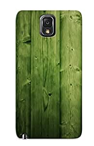 Fashion Tpu Case For Galaxy Note 3- Green Wood Defender Case Cover For Lovers