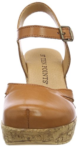 con POINTS 319 Julia Marrone Donna Plateau Cognac Sandali TEN qBtOfwgq1