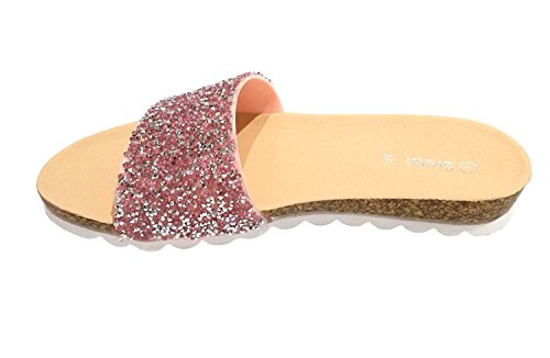 Siebis Amalfi Badeschuhe Strandschuhe Pantoletten Damen Pink