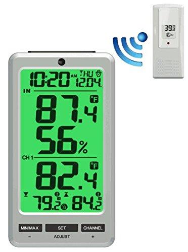 Ambient Weather WS-24 Big Digit 8 Channel Wireless ()