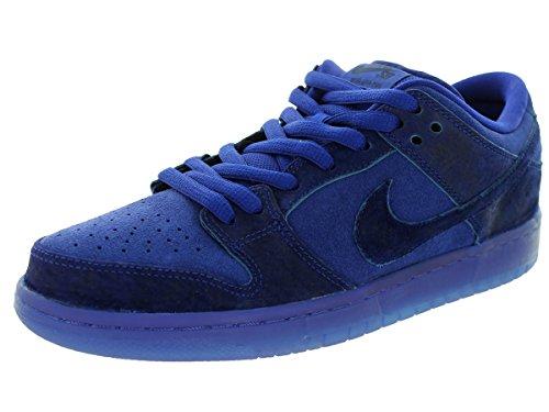 Nike Herren Dunk Low Premium Ankle-High Leder Fashion Sneaker Blau