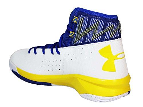 Under Armour Hi Top Sneakers Uomo 7712863850100 Pelle Bianco/Blu