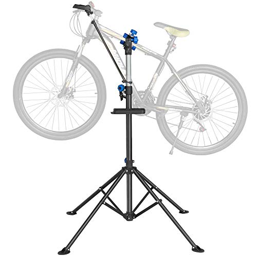 "Yaheetech Adjustable 52"" to 75"" Pro Bike Repair Stand w/Telescopic Arm & Balancing Pole Cycle Bicycle Rack"