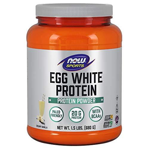 Now Sports, Eggwhite Protein Vanilla Creme Powder, 1.5 lb