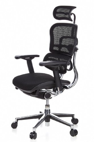 Ergohuman Bürostuhl mit Netz-Stoff, schwarz - 14