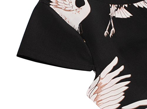 de Vintage FAIRY Lunares Rockabilly Ganso Negro Vestido Cap 1950S DRT019 Mangas COUPLE Baile SqwCCHF