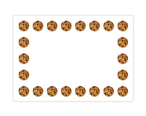Hygloss Products Chocolate Chip Cookies Self Adhesive Kids Name Tags - 3.5 x 2.5 Inch, 36 Pack