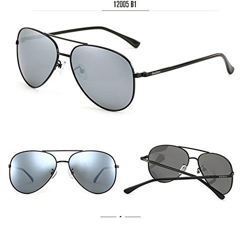 5b633cfaeb6 PARIM Mirrored Polarized   UV Protected Aviator Metal Sunglasses for Men