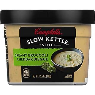 Campbell'sSlow Kettle Style Creamy Broccoli Cheddar Bisque, 15.5 oz. Tub