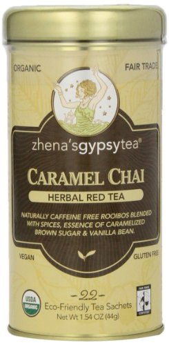 Zhena's Gypsy Chai Red Tea, Caramel, 22 Count - Gypsy Tin Zhena