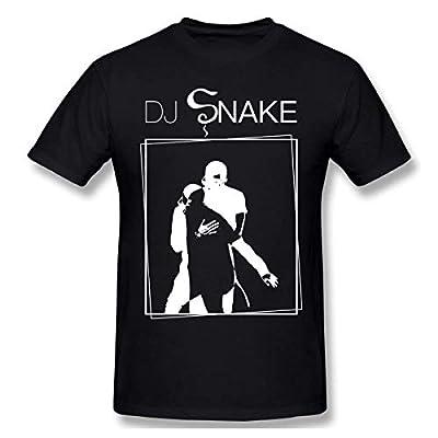 asdzxcwsw Men Snake Wild Animal Singer DJ Record Producer Cool T-Shirts Black with Short Sleeve