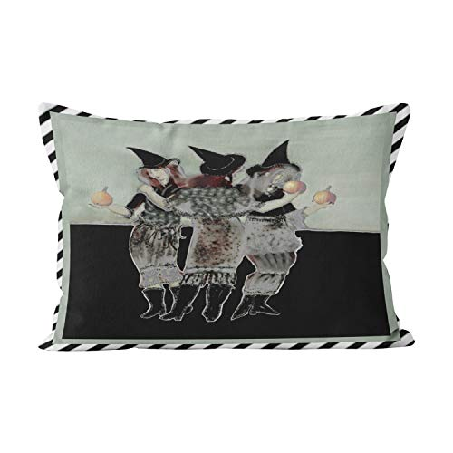 Wesbin Halloween Witches Beauty Hidden Zipper Home Decorative Rectangle Throw Pillow Cover Cushion Case Inch 12x20 Boudoir One Side Design Printed Pillowcase for $<!--$9.17-->
