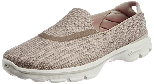 Skechers Performance Women's Go Walk 3 Slip-On Walking Shoe, Stone, 11 M US