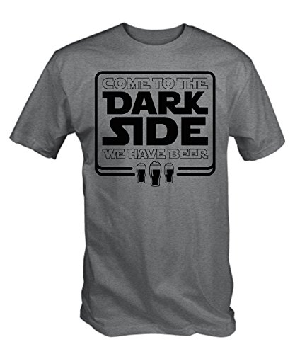 TBT Men's Come To The Dark Side We Have Beer T-Shirt X-Large Ash Grey