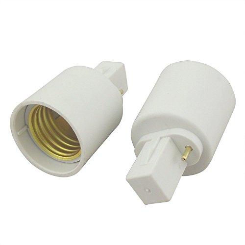 - Bonlux G23 Pin Base to E26/e27 Screw-in Lamp Base Light Bulb Socket Holder Converter Adapter (Pack of 10)